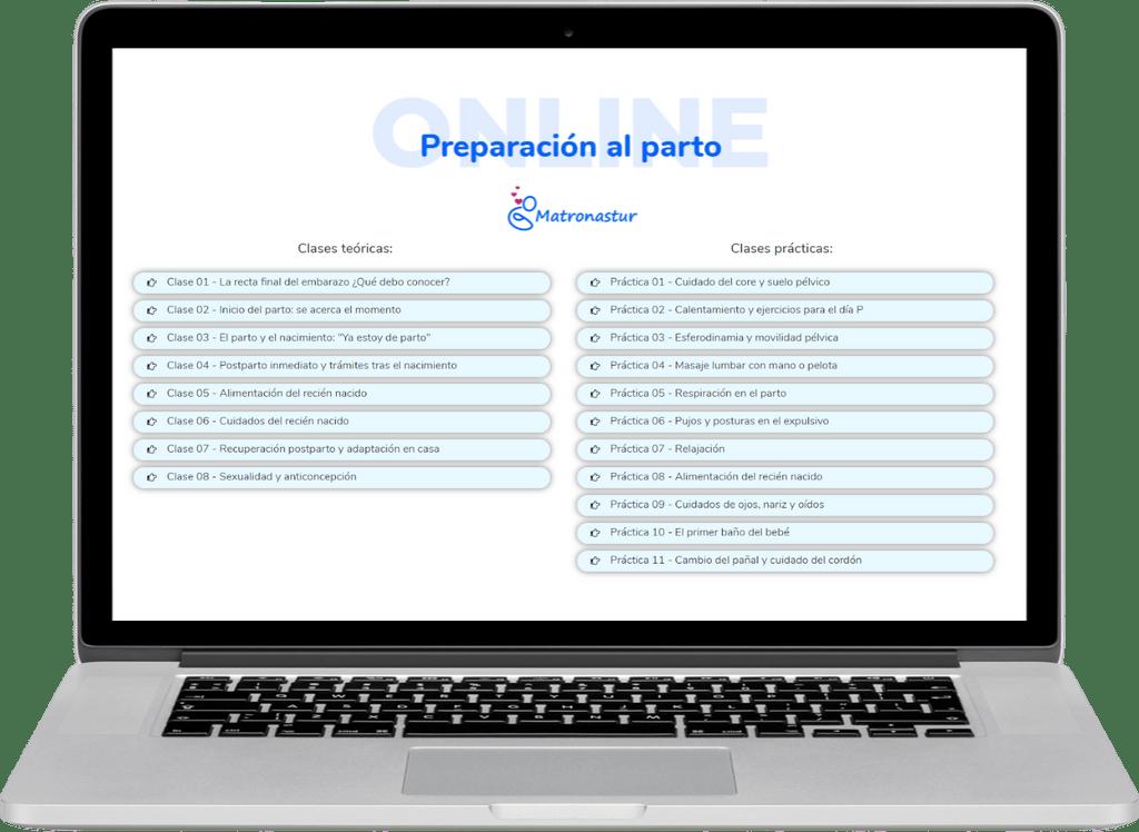 🤰 Curso de preparación al parto online - Matronastur 2
